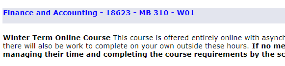 "Screenshot of an example course that is available for the Winter Term; it is marked with a ""W"""